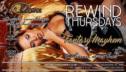 Rewind Thursdays @ Dreams Gentlemen's Club