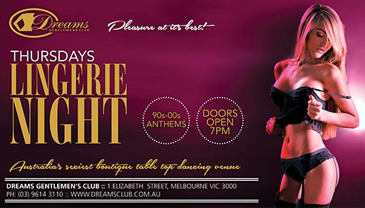 Thursday Nights Lingerie Party @ Dreams
