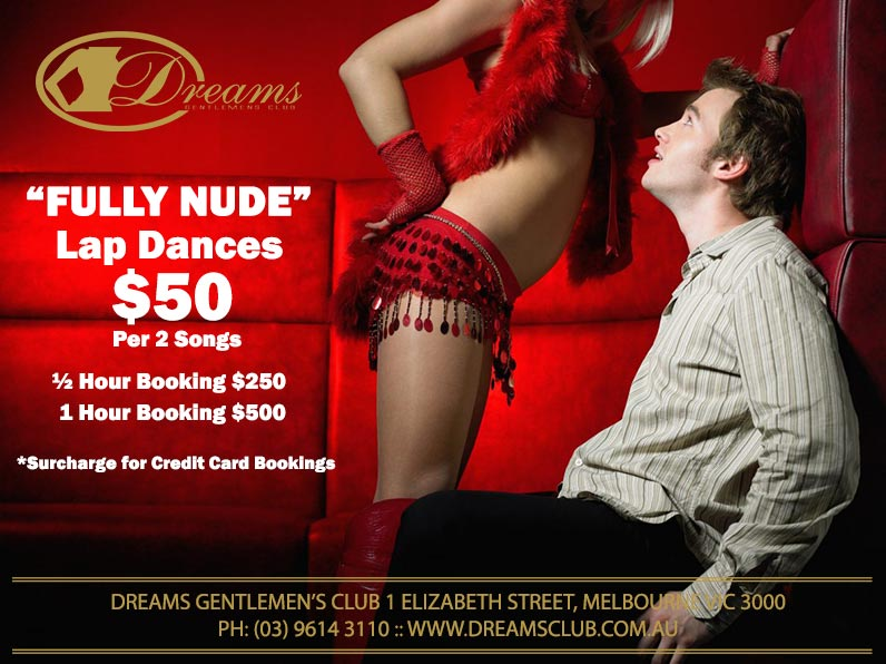 Private Full Nude Lap Dances | Dreams Gentlemen's Club | Melbourne