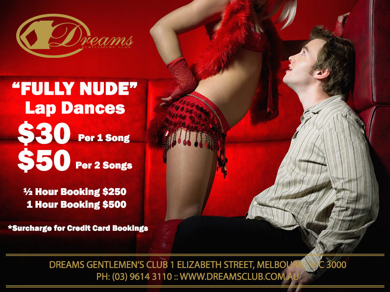 Private Fully Nude Lap Dances | Dreams Gentlemen's Club | Melbourne