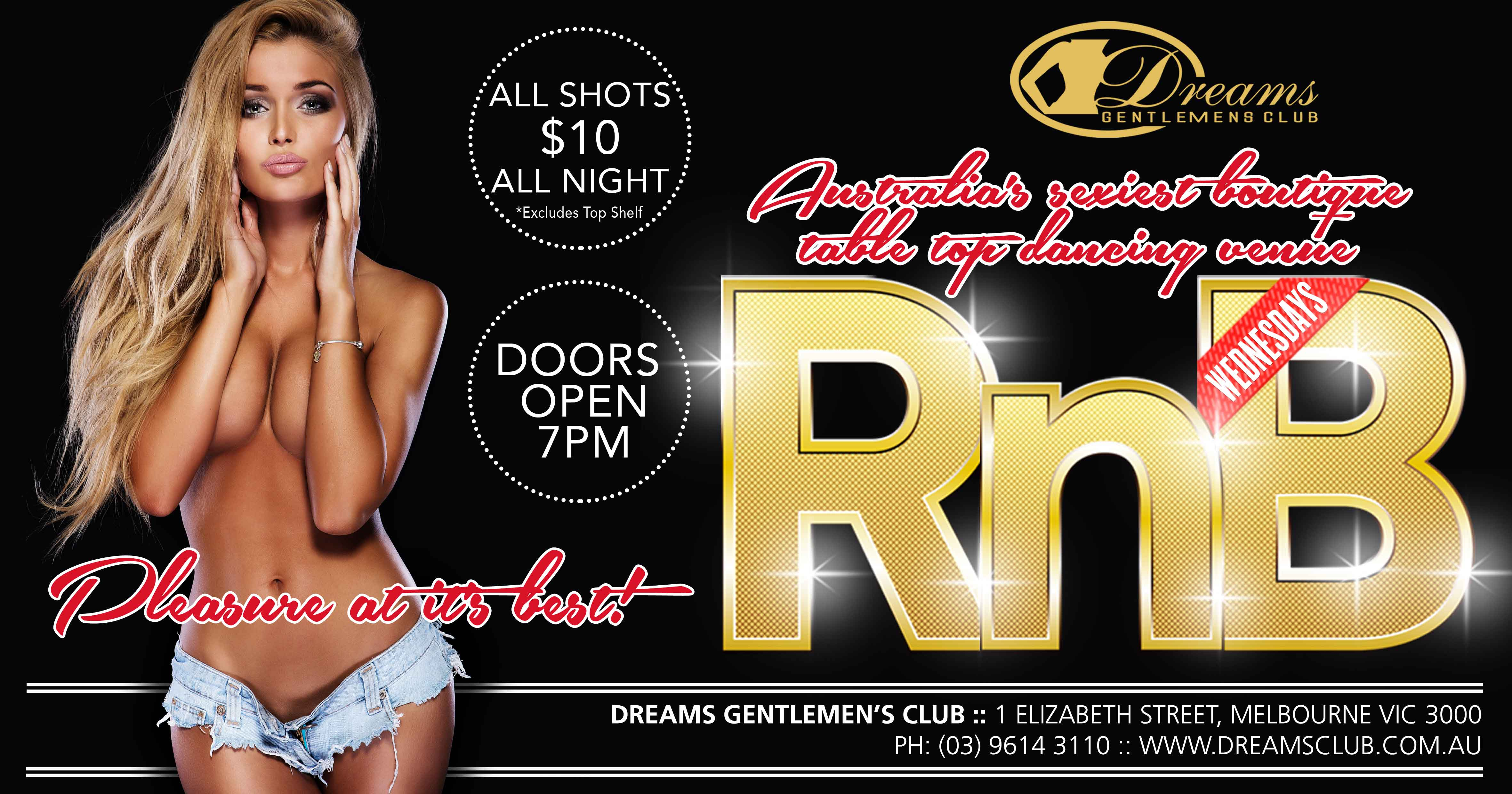 Dreams Rnb Wednesdays - Only @ Dreams Gentlemen's Club Melbourne
